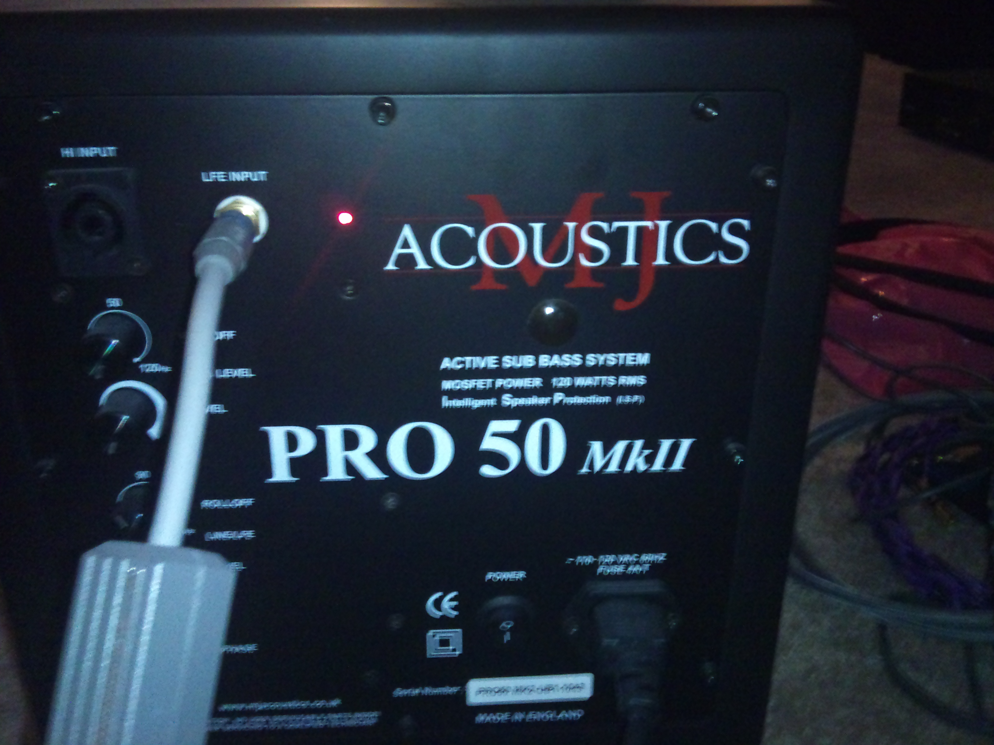 mj acoustics pro 50 mkii manual