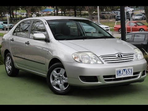 toyota corolla ascent 2002 manual