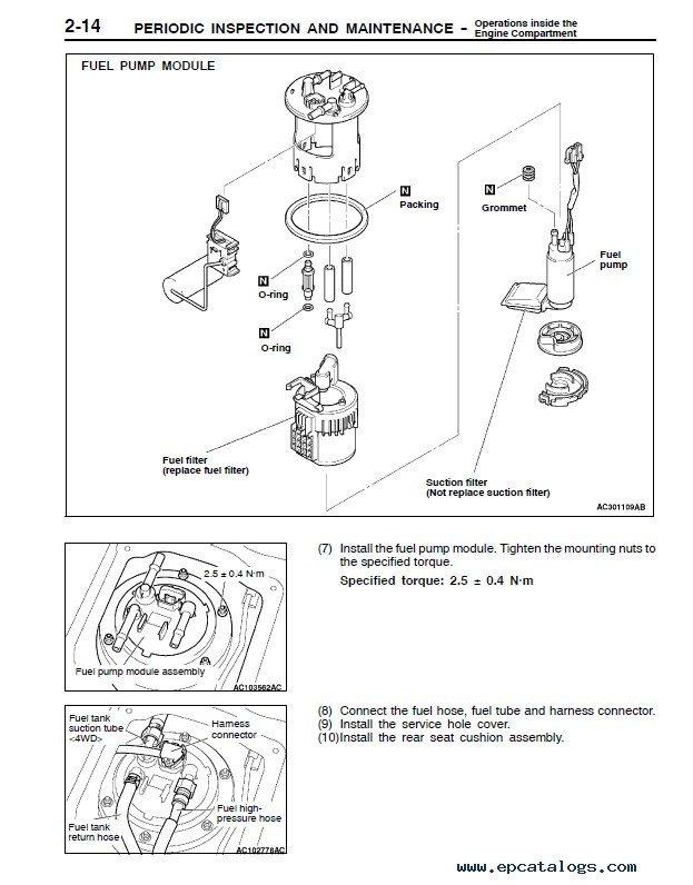 2003 mitsubishi outlander repair manual pdf