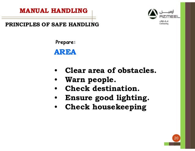 principles of safe manual handling