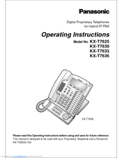 panasonic kx t7636 user manual