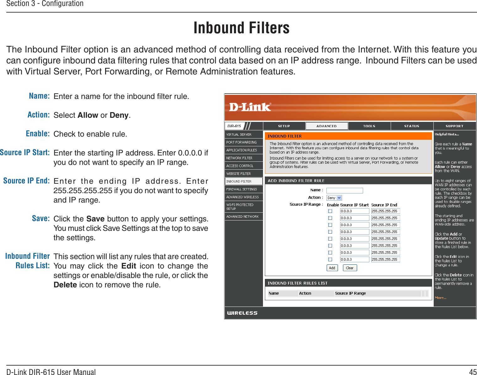 d link router manual dir 615