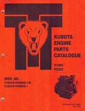 kubota v2203 parts manual free