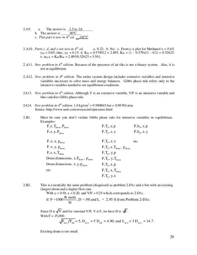 separation process engineering wankat 4th edition solutions manual pdf
