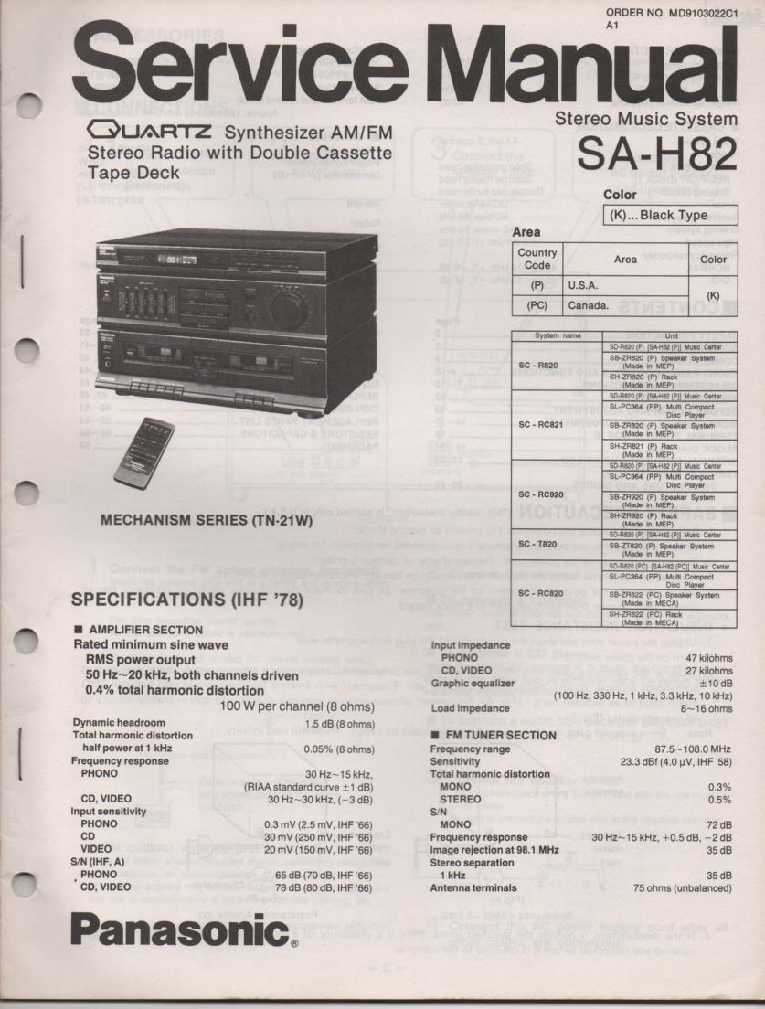 panasonic sa ht 15 manual