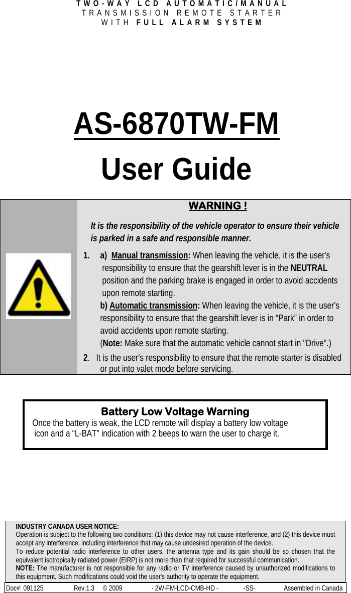 dei remote start system manual