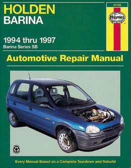 holden barina 2004 owners manual