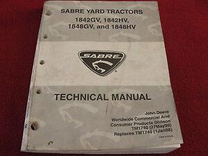 john deere sabre 1742 hydro manual