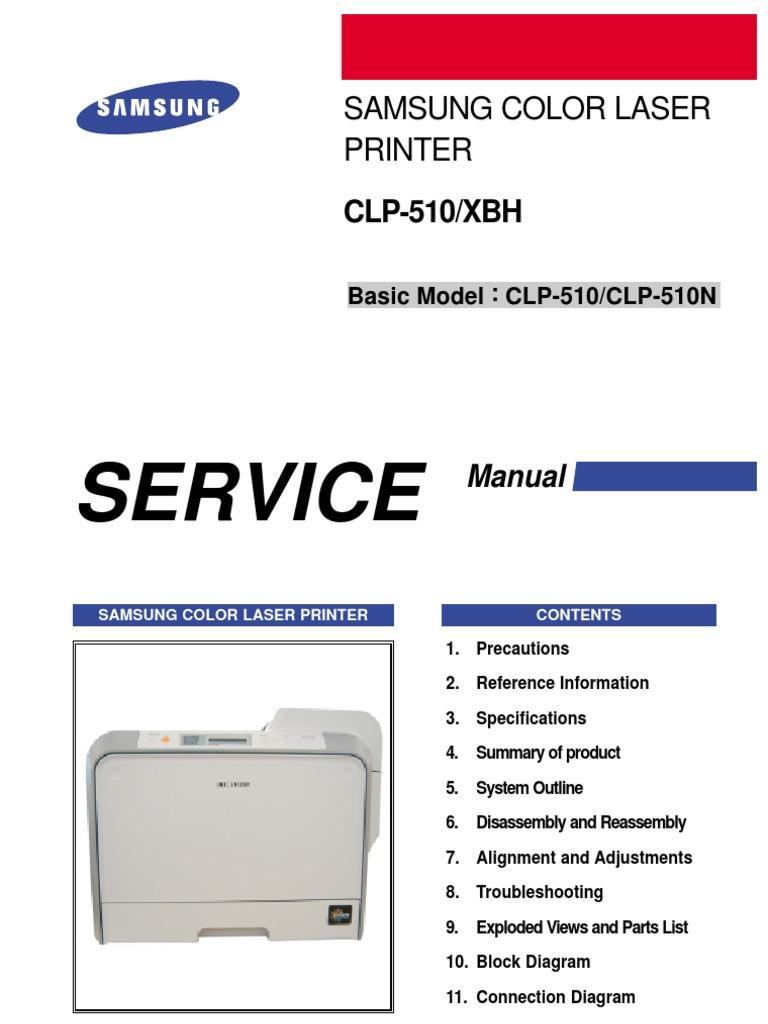 samsung clx 3175 service manual pdf