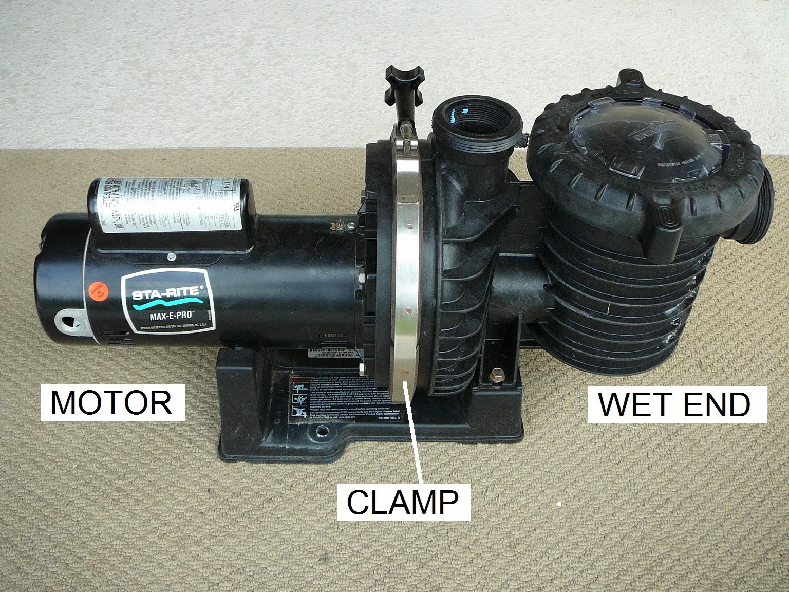 sta rite pool pump manual