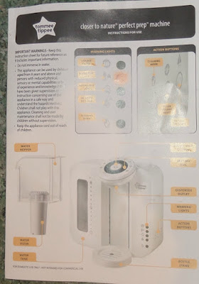 tommee tippee perfect prep instruction manual